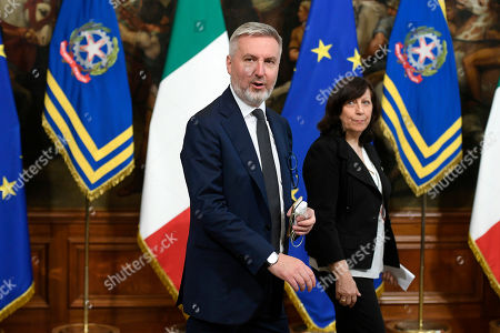 Editorial picture of New Italian government take office, Palazzo Chigi, Rome, Italy - 05 Sep 2019