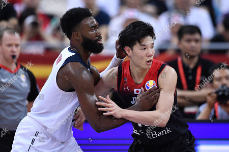 Stock Picture of (L-R) Kemba Walker (USA), Yudai Baba (JPN) - Group E match between United States 98-45 Japan at Shanghai Oriental Sports Center