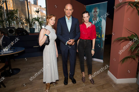 Stock Picture of Lily Newmark, Mark Strong and Chloe Pirrie