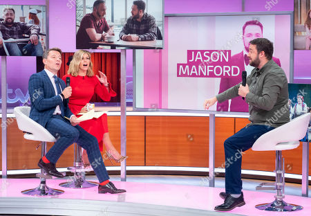 Stock Picture of Ben Shephard and Kate Garraway with Jason Manford