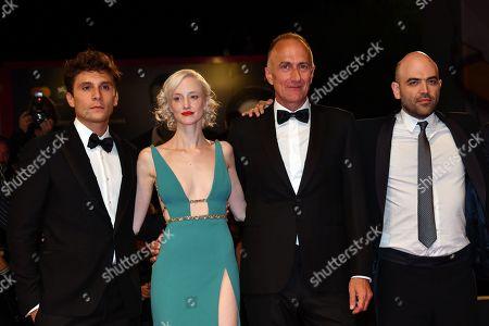 The director Stefano Sollima, Andrea Riseborough, Giuseppe De Domenico, Roberto Saviano author of the book from which it is taken the film tv