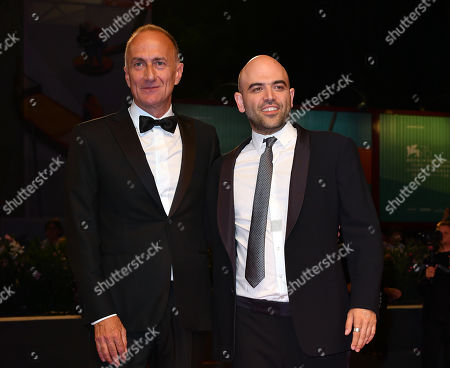 The director Stefano Sollima, the writer and journalist Roberto Saviano