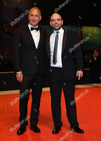 Stock Image of The director Stefano Sollima, the writer and journalist Roberto Saviano