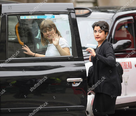 Labour Peer Shami Chakrabarti is seen leaving The Royal Courts of Justice after a ruling on a judicial review of Boris Johnson's planned suspension of Parliament.