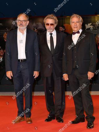 Stock Photo of Jean Pierre Darroussin, Robert Guediguian, Gerard Meylan