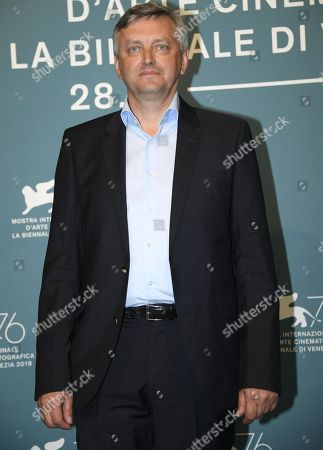 Stock Photo of Sergei Loznitsa poses at a photocall for 'State funeral' during the 76th annual Venice International Film Festival, in Venice, Italy, 06 September 2019. The movie is presented out of competition at the festival running from 28 August to 07 September.