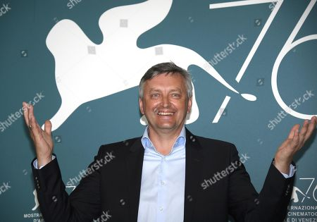 Stock Image of Sergei Loznitsa poses at a photocall for 'State funeral' during the 76th annual Venice International Film Festival, in Venice, Italy, 06 September 2019. The movie is presented out of competition at the festival running from 28 August to 07 September.