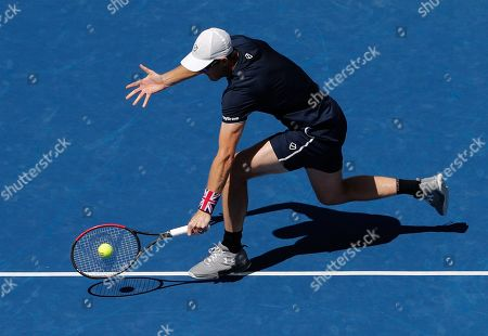 Jamie Murray of Great Britain in action in the Mixed Doubles Final