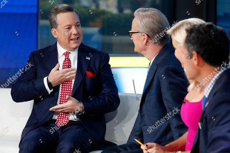 "Ed Henry, Steve Doocy, Ainsley Earhardt, Brian Kilmeade. Fox News Chief National Correspondent Ed Henry, left, describes his surgery to co-hosts Steve Doocy, second left, Ainsley Earhardt, and Brian Kilmeade on the ""Fox & friends"" television program, in New York . Henry retuned after donating 30-percent of his liver to his ailing sister"