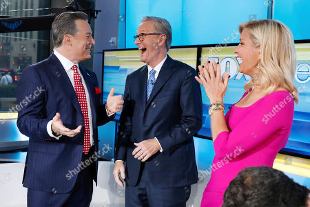 "Ed Henry, Steve Doocy, Ainsley Earhardt. Fox News Chief National Correspondent Ed Henry, left, is welcomed by co-hosts Steve Doocy and Ainsley Earhardt on the ""Fox & friends"" television program in New York, . Henry retuned after donating 30-percent of his liver to his ailing sister"