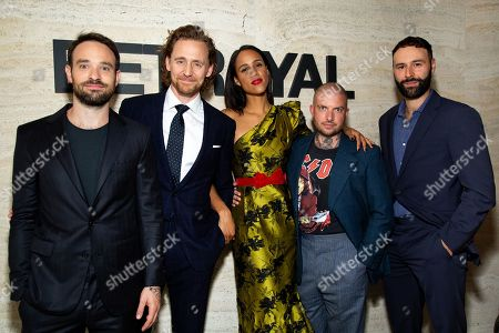 Stock Photo of Charlie Cox with Tom Hiddleston, Zawe Ashton, Jamie Lloyd and Eddie Arnold