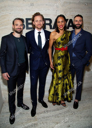 Stock Picture of Charlie Cox with Tom Hiddleston, Zawe Ashton and Eddie Arnold
