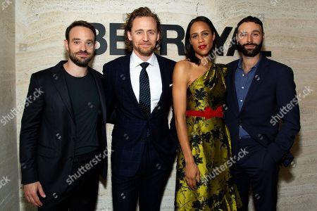 Charlie Cox with Tom Hiddleston, Zawe Ashton and Eddie Arnold