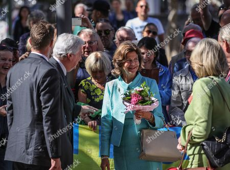 Hessian Prime Minister Volker Bouffier (2-L) welcomes Queen Silvia of Sweden (C) as she arrives in Wiesbaden, Germany, 06 September 2019. During their meeting they discussed the work of the 'World Childhood Foundation' which was founded in 1999 by Queen Silvia. Earlier in the day, Queen Silvia received the 'Karl Kuebel Prize' for her commitment to children. Karl Kuebel (1909-2006) was a German entrepreneur who founded the 'Karl Kuebel Foundation for Children and Families' in 1972.