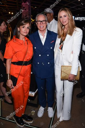 Kim Hilfiger with Tommy Hilfiger and Dee Ocleppo