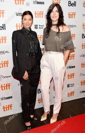 Jessica Biel and Rebecca Thomas