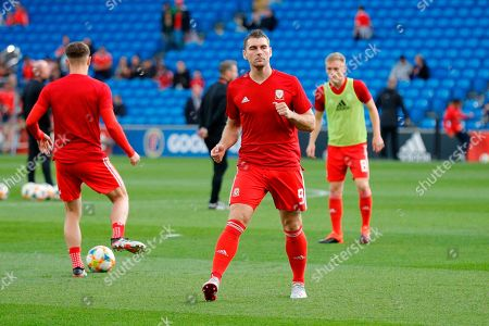 Wales forward Sam Vokes during the UEFA European 2020 Qualifier match between Wales and Azerbaijan at the Cardiff City Stadium, Cardiff
