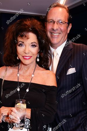 Dame Joan Collins and Percy Gibson