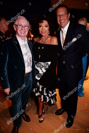 John Reid, Dame Joan Collins and Percy Gibson
