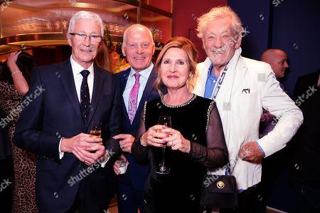 Stock Image of Paul O'Grady, Lord Michael Cashman, Guest and Sir Ian McKellen