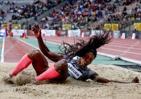 Caterine Ibarguen of Colombia competes in the women's Long Jump at the Memorial Van Damme IAAF Diamond League international athletics meeting in Brussels, Belgium, 06 September 2019.