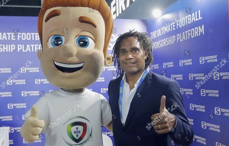 Stock Image of Former French soccer player Christian Karembeu poses during the Soccerex Europe conference in Lisbon, Portugal, 06 September 2019. The Soccerex Lisbon 2019, which runs from 05 to 06 September, aims to gather over 1,500 people from over 56 countries to discuss topics of current events in the industry of soccer around the world.