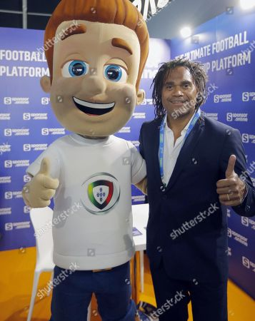 Former French soccer player Christian Karembeu poses during the Soccerex Europe conference in Lisbon, Portugal, 06 September 2019. The Soccerex Lisbon 2019, which runs from 05 to 06 September, aims to gather over 1,500 people from over 56 countries to discuss topics of current events in the industry of soccer around the world.