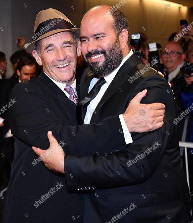 Mark Rylance (L) and Colombian director Ciro Guerra arrive for the premiere of 'Waiting for the Barbarians' during the 76th annual Venice International Film Festival, in Venice, Italy, 06 September 2019. The movie is presented in the official competiton 'Venezia 76' at the festival running from 28 August to 07 September.