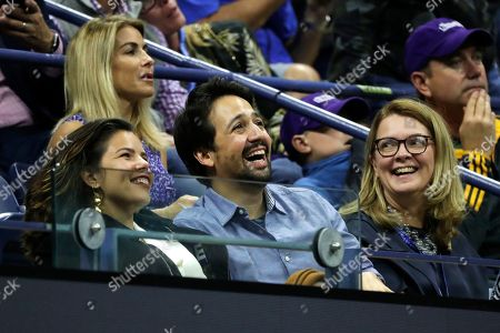 Lin-Manuel Miranda and wife Vanessa Nadal attend the men's singles semifinals of the U.S. Open tennis championships, in New York