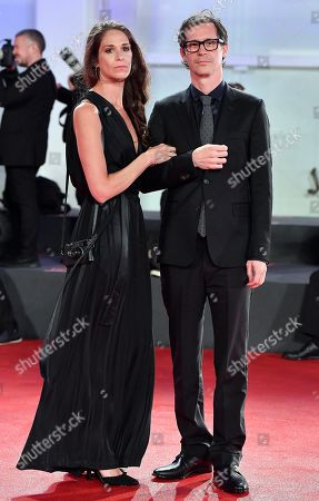 Sean Evans (R) and a guest arrive for a premiere of 'Roger Waters Us and Them' during the 76th annual Venice International Film Festival, in Venice, Italy, 06 September 2019. The movie is presented out of competition at the festival running from 28 August to 07 September.