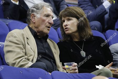 US actor Judd Hirsch (L) watches as Grigor Dimitrov of Bulgaria plays Daniil Medvedev of Russia during their Semi-Finals round match on the twelfth day of the US Open Tennis Championships the USTA National Tennis Center in Flushing Meadows, New York, USA, 06 September 2019. The US Open runs from 26 August through 08 September.