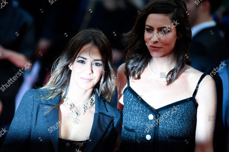 Alice Belaidi (L) and French actress Anna Mouglalis arrive on the red carpet prior to the opening ceremony during the 45th Deauville American Film Festival, in Deauville, France, 06 September 2019. The festival runs from 06 to 15 September 2019.