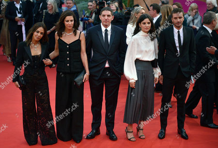 Alice Belaidi, Anna Mouglalis, Damien Bonnard, Marie Louise Khondji and Romain Kolinka pose on the red carpet prior to the opening ceremony during the 45th Deauville American Film Festival, in Deauville, France, 06 September 2019. The festival runs from 06 to 15 September 2019.