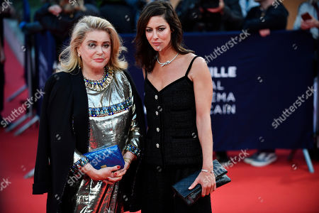 Catherine Deneuve (L) and Anna Mouglalis arrive on the red carpet prior to the opening ceremony during the 45th Deauville American Film Festival, in Deauville, France, 06 September 2019. The festival runs from 06 to 15 September 2019.