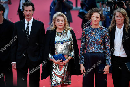 French scriptwriter Antonin Baudry, French actress Catherine Deneuve, Luxembourgish actress Vicky Krieps and French director Claire Burger pose on the red carpet prior to the opening ceremony during the 45th Deauville American Film Festival, in Deauville, France, 06 September 2019. The festival runs from 06 to 15 September 2019.