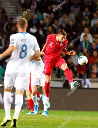 Poland's Jacek Goralski (R) in action during the UEFA EURO 2020 group G qualifying soccer match between Slovenia and Poland at Stozice stadium in Ljubljana, Slovenia, 06 September 2019.
