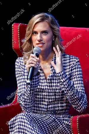 US actress Allison Williams participates in the Telmex-Telcel Foundation Forum, in Mexico City, Mexico, 06 September 2019.