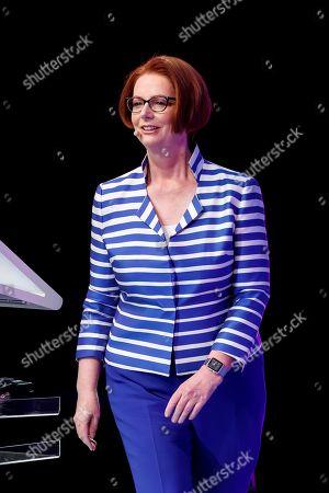 Former Australian prime minister Julia Gillard participates in the Telmex-Telcel Foundation Forum, in Mexico City, Mexico, 06 September 2019.