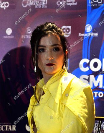 Erendira Ibarra speaks at a press conference at the 2019 Smartfilms Festival, in Bogota, Colombia, 06 September 2019.