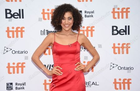"""Marielle Scott attends the premiere for """"The Friend"""" on day two of the Toronto International Film Festival at the Princess of Wales Theatre, in Toronto"""
