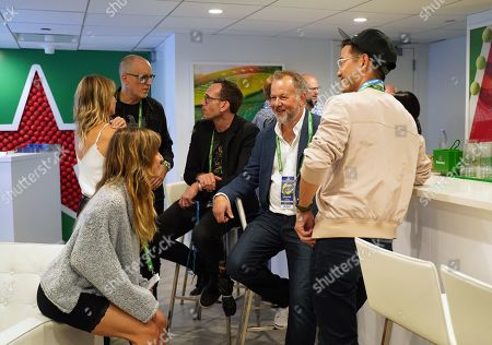 Stock Photo of Zina Wilde, Kelly AuCoin, Stephen Kunken, David Costabile and Daniel K. Isaac of Billions stop by the Heineken suite at the U.S. Open.