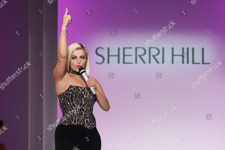 Bebe Rexha on the catwalk