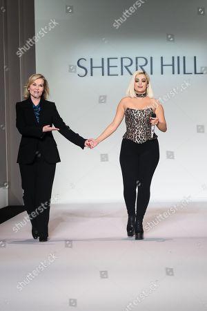 Sherri Hill and Bebe Rexha on the catwalk