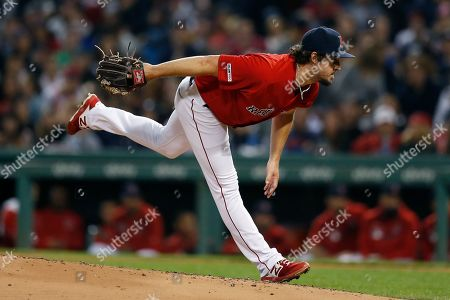 Boston Red Sox's Josh Taylor pitches during the third inning of a baseball game against the New York Yankees in Boston