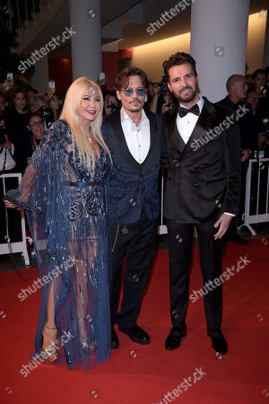 Johnny Depp, Monika Bacardi and Andrea Iervolino