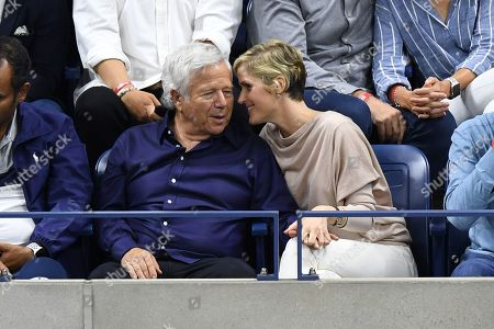 Stock Image of Robert Kraft and Ricki Lander