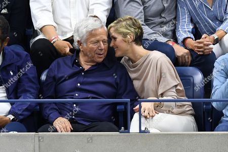 Stock Photo of Robert Kraft and Ricki Lander