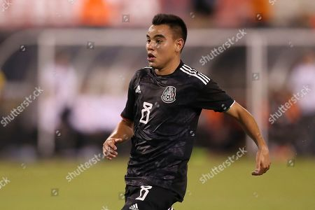Mexico midfielder Carlos Rodriguez in action during an international friendly soccer match against the the United States, in East Rutherford, N.J. Mexico won 3-0
