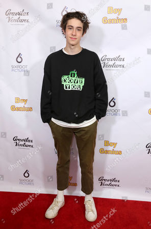 """Diego Velazquez attends the LA Premiere of """"Boy Genius"""" at the Arena Cinelounge, in Los Angeles"""