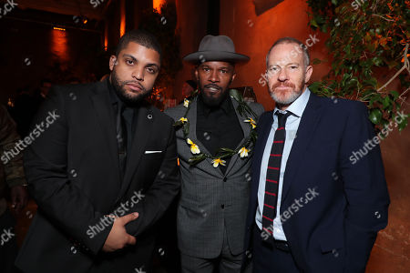 O'Shea Jackson Jr., Jamie Foxx, Toby Emmerich, Chairman of the Warner Bros. Pictures Group